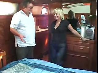 older pair fucking on boat