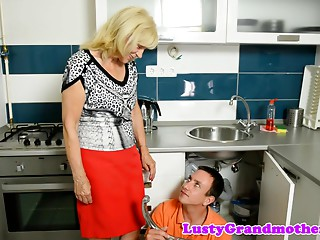 Gilf drilled hard by plumber