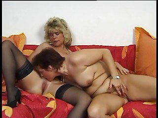 2 Sexy German Housewives share a spouse jock