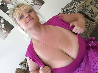 Bug breasted aged hooker mother getting juicy