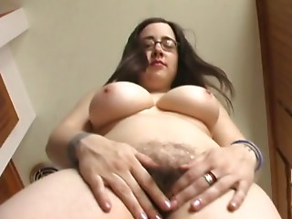 Corpulent mamma with shaggy cookie & ravishing huge melons