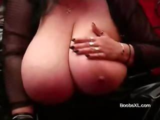 German Goth BBW shows her excellent Breasts