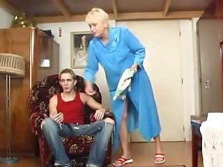 Old slut Copulates the Guy