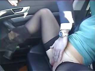Exhibition of my hooker in car fingered by stranger. Public