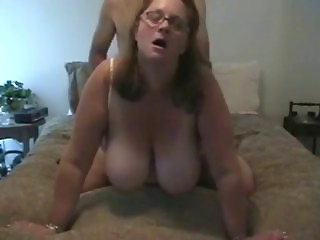 Wife with exceedingly massive marangos sucks the dong and fucking.