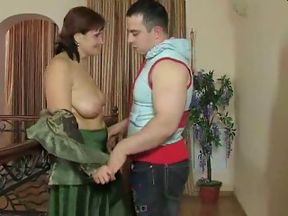 Russian Mommy and her boy! Amateur!