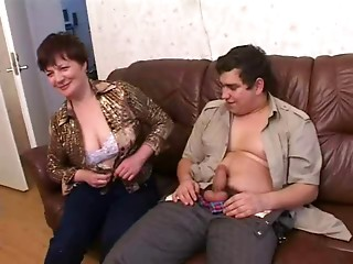 Russian old mommy and her boy! Amateur!