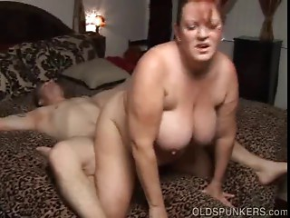Nice-looking aged BBW enjoys a large older facial spunk flow