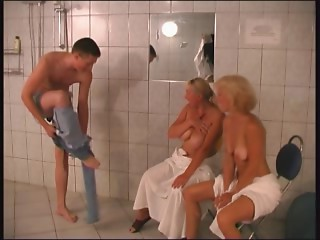 RUSSIAN Mama Twenty two golden-haired old with a youthful stud