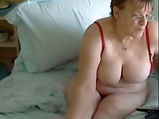 55 yo Mum, Joyce from Midlands UK Gets horrny on Web camera