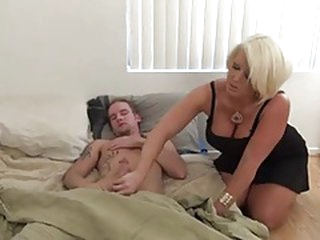 step mama jerking off NOT her son