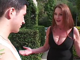 Hot Grandmother Anastasia Sands Seduces Younger Dude