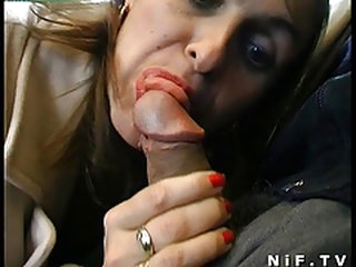 French aged group-fucked and cum covered