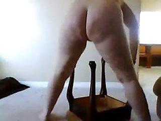 mother rides leg of stool