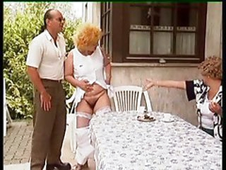 Julian - Granny get her pussy hairless and fucked outdoor