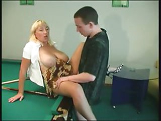 RUSSIAN Mamma 16 golden-haired aged with a yong chap