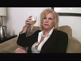 Hot Curvy Blonde Grandmother Bangs Bbc