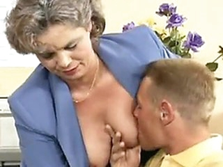 Mature lady getting team-fucked