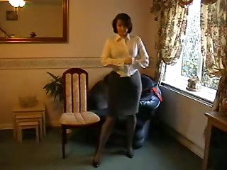 Teasing Mother I'd like to fuck in Nylon Nylons and Heels