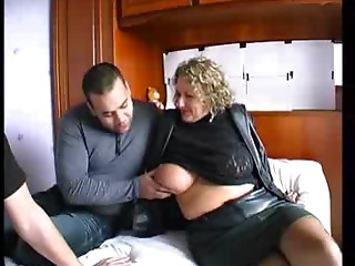 French blonde bbw sucking dick while getting drilled doggystyle