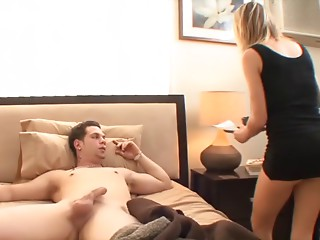 Sexy Golden-haired MILF Rides College Guy
