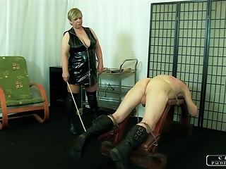 The Sadist Old bitch VI - face slapping, caning, whipping