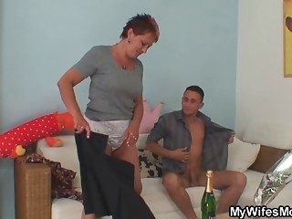 That guy acquires tempted by his GF's mature mommy