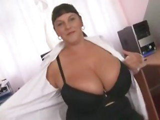 Large Titted Office British Bitch sextoy Fucking Hooker