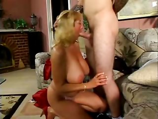 Large Titted Mommy Copulates Juvenile Hard Rod