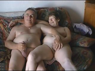 Older Exhibitionist Pair Masturbating Openly