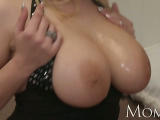 Mommy Divorced MILF craves to share her big tits