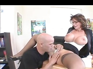 Big breasted Cougar Teacher in Nylons Bonks