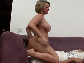 Corpulent mamma like when take up with the tongue her muff & backdoor