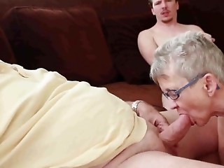 Grandma and older man with chap