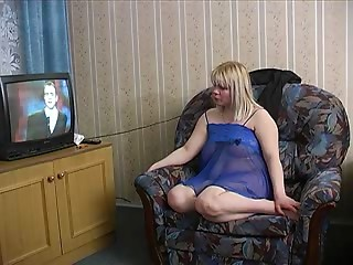 Russian old BBW drilled by 2 younger men