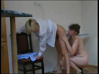 Older Lesbo Copulates Younger Hotty