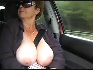 Grandmother naked outdoor