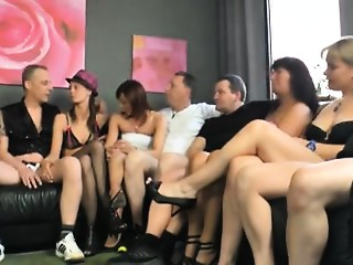 Astonishing group shag act of love during swinger's party