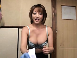 Reiko Kagami hawt older Oriental honey in hawt dress