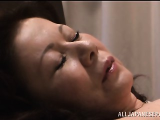 Chizuru Iwasaki hawt older Oriental hottie is drilled hard