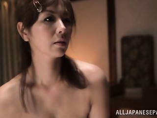 Chisato Shohda sexy elder Oriental hottie receives sexy creamed fur pie
