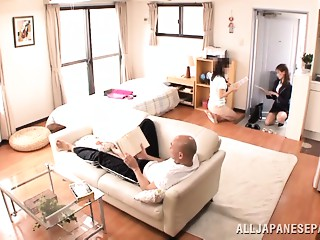 Japanese AV Model is a hawt mother I'd like to fuck in her office dress
