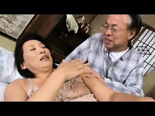 Old Oriental porn movie scene with hot Japanese MILFs