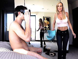 Brandi Love in Stepmother Plays With Gamer Stepson's Joystick - SpyFam