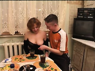 Russian old fun with 2 youths