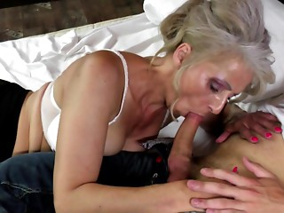 Hawt older mom drilled by youthful not her son