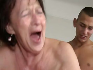 Old slut Can't live without Youthful Boy's Balls and Gazoo