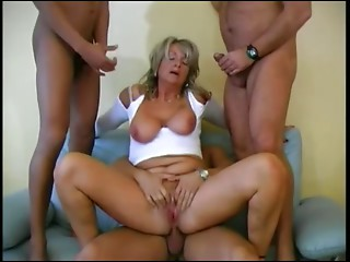 Sexy German Grandmother receives Butt slam & Vaginal Creampies