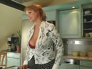 Big breasted Older Cougar in Nylons Sucks Hubby Copulates Boy