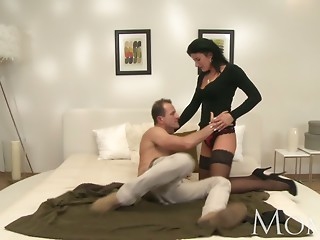 Mommy Excited MILF makes her stud cum twice